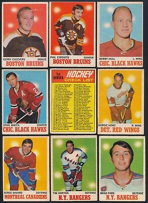 1970-71 O-Pee-Chee Complete Your Set Cards #1- 132 (see list)  $1.50 - $25.00