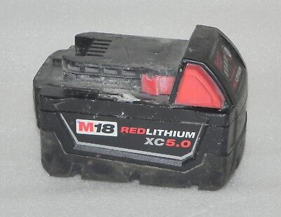 Milwaukee M18 Red Lithium XC 5.0 18V Extended Capacity Battery Pack 48-11-1850
