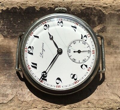 1934 Oversized Longines 15.94 enamel dial fixed lugs wristwatch