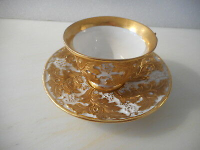 Meissen 1860 Heavy Gold Cup and Saucer