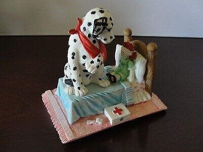 """SPOT GETS A Boo Boo"" Hamilton Collection Seeing Spots,Dalmatians Exc"