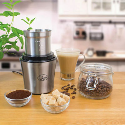 Coffee Grinder Nut And Spice Grinder In Stainless Steel 200W Wet And Dry 80g