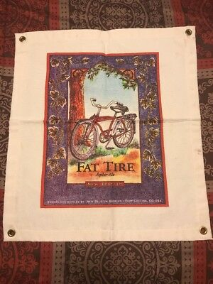 NEW BELGIUM BREWING NC CO ~ Fat Tire Amber Ale Canvas ~ Beer Advertising Sign