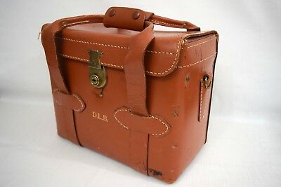 VINTAGE 1940's DIAMOND 0508 Top Grain Cowhide Leather Camera Case (Great Patina)