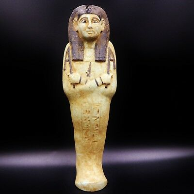 XX-Large Antique Faience Ushabti (Shabti) Statue Figure of Ancient Egyptian