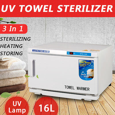 16L UV Towel Sterilizer Warmer Cabinet Disinfection Salon Spa Hotel Towel Heater