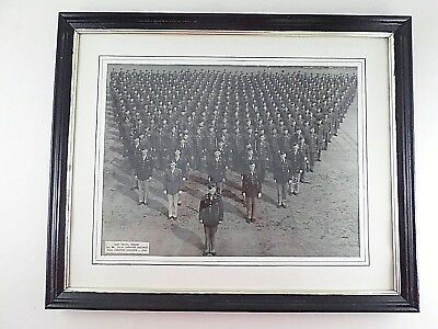 1944 WWII World War 2 96th Infantry Camp White US Army Photo Framed Provenance