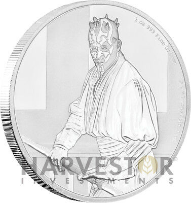 2018 Star Wars Classics: Darth Maul - 1 Oz. Silver Coin - With Ogp Coa - 12Th
