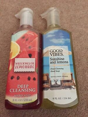 Bath & Body Works Deep Cleansing hand soap Watermelon Lemonade/Sunshine & Lemons