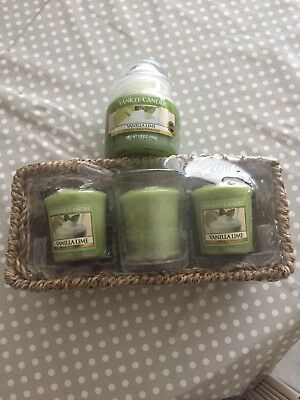 Brand new Yankee candle Vanilla Lime Gift Set USA Exclusive