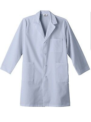 Meta Adult Unisex Blue Four Pockets Long Sleeve Performance 40 Inches Lab Coat.
