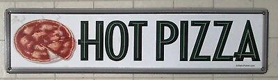 Retro Hot Pizza Metal Sign - 5 X 20 - Restaurant - Bar - Kitchen - Dining Room