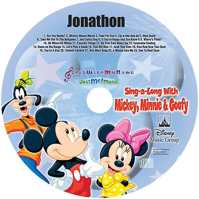 Personalized Sing Along w/Mickey & Friends CD - Digital Album Download Avail