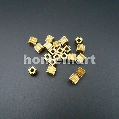 20PCS 0.3M 14T 2A 14 Teeth Brass Gear 0.3 Modulus T=14 Aperture 2mm Tight Fit HQ