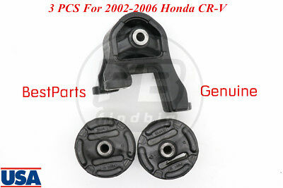 3Pcs Rear Differential Motor Mounting Bushing Support Axle For 02-06 Honda CR-V