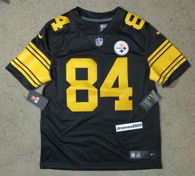 9d4bc35946f ... canada nwt nike pittsburgh steelers color rush limited jersey antonio  brown 84 sz l 65bb3 c5b3a
