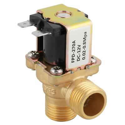 DC12V DN15 G1/2 Brass Electric Solenoid Valve Normally Closed Water Inlet Switch