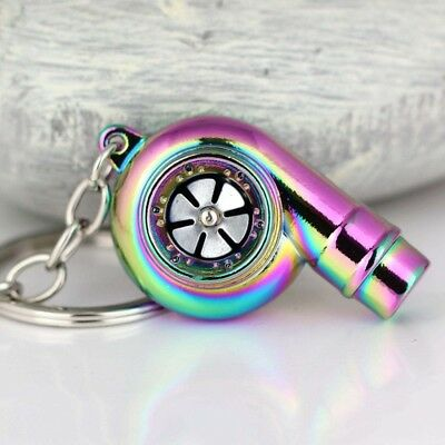 Real Whistle Sound Turbo Keychain Spinning Turbine, Key Chain Ring Keyring Hot