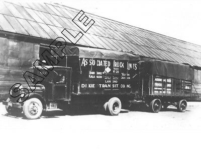 ASSOCIATED TRUCK LINES/ANR ASSOCIATED- 1920s FEDERAL & Trailer 8x10 Glossy Photo