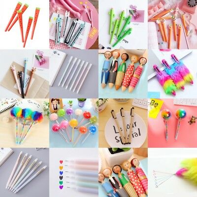 11Style Kawaii Gel Pen Ballpoint Writing Pen Office Kid School Stationery Supply