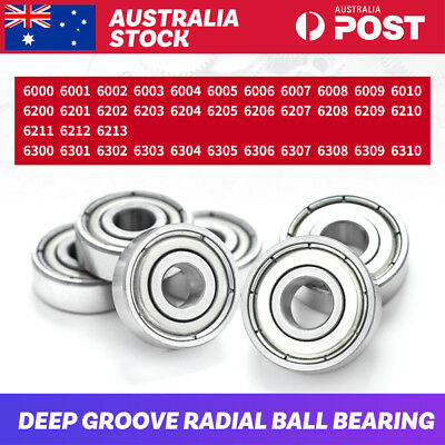 10x Roller Bearings 6000-6310 ZZ 2Z Wheel Metal Sealed Deep Groove Ball Bearings