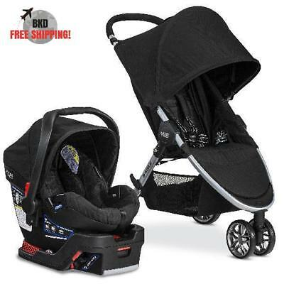 Travel System Set Stroller Car Seat And Car Seat Base With Built In Lock Offs