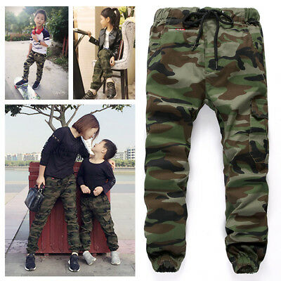 Kids Boys Army Combat Pants Trousers Sports Camouflage Warrior Clothing Thin