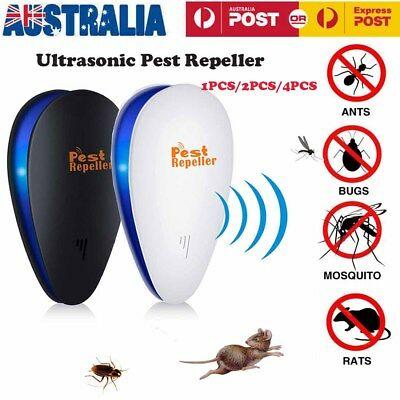 1/2/4x Ultrasonic Pest Repeller Mouse Mosquito Rat Mouse Control Rejector TZ
