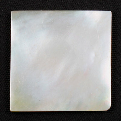 Square Flat 21.5 Cts Natural MOTHER OF PEARL Jewellery Gemstone 25x25 mm s-21198
