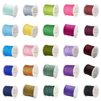 145yds/Roll 27 Color Nylon Threads Tiny Normal Beading Cords Round Spool 0.5mm
