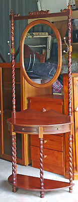 Jacobian Style Hall Stand With Oval Mirror and 2 hooks.Kallangur Pickup Only
