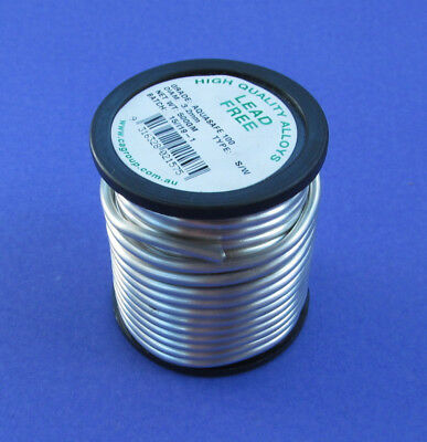 LEAD FREE SOLDER     3.2mm 500g  ROLL   ***SAFE FOR WATER & GAS PIPE PLUMBING***