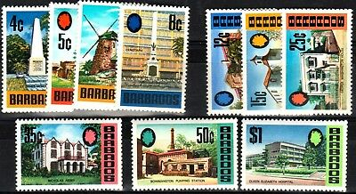 Barbados:1972-4:Definitive various to $1,10 Stamps,(Glazed Paper),MNH.C.£25+