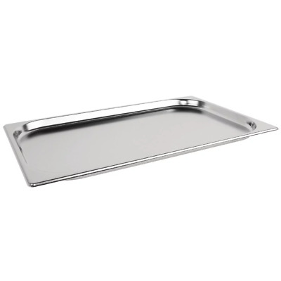 Vogue K998 Stainless Steel Gastronorm Pan - 1/1 Size Dimension: 325x530x20mm