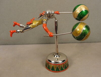 Gene Moore Tiffany Co Enamel Circus Sterling Figurine Italy 1990