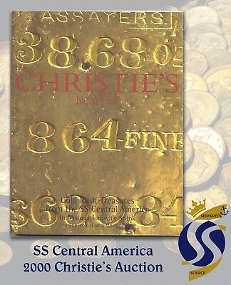 CHRISTIE'S Gold Rush Treasures from the S.S. Central America – Auction Catalog