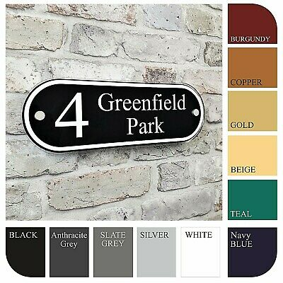 Personalised House Name Plaque Address Sign Door Number Classic Property Plates