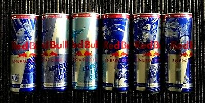 Red Bull Empty Unopened Can 6 X Special Editions For Redbull Cans Collectors