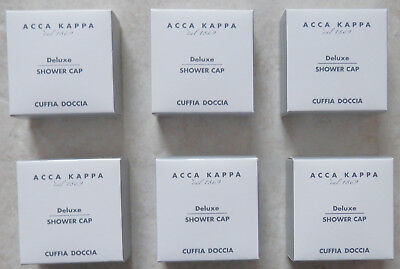 6 ACCA KAPPA Since 1869 Shower Cap  Deluxe And Individually Well Boxed For All