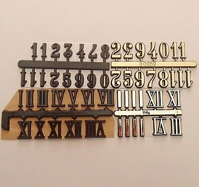 15mm Adhesive CLOCK NUMBERS Arabic/Roman Numerals For Clock making, Clock Dials