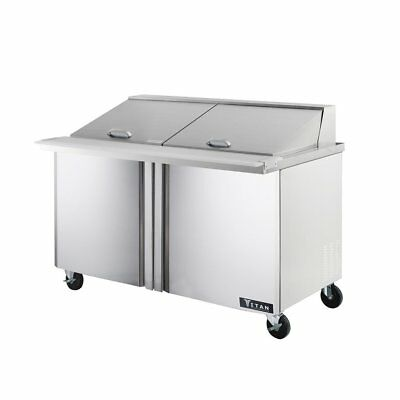 Titan TIMU60-24 Mega Top Sandwich Prep Tables 2 Door 24 Pans 60 inch