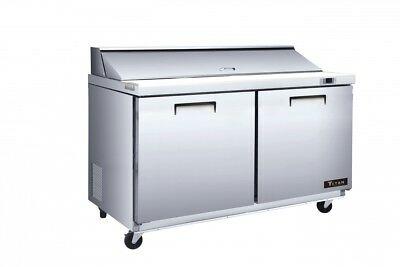 Titan XTMU60 XT Mega Top Sandwich Prep Tables 2 Door 24 Pans 60 inch