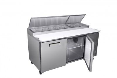 Titan XTPZ67 XT Series Pizza Prep Tables 2 Door 71 inch
