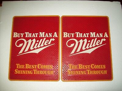 "Rare Vintage Miller High Life ~ Buy That Man A Miller Bar Mat Man Cave 15""x 11"""