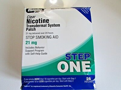RUGBY Nicotine System Patch 28 Patches 21 mg stop smoking exp 10/20 damaged box