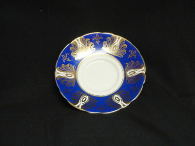 Royal Standard England Bone China Cobalt Blue Gold Saucer