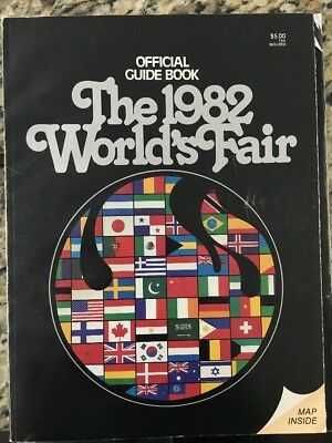 vintage 1982 worlds fair official guide book knoxville tn with full color map