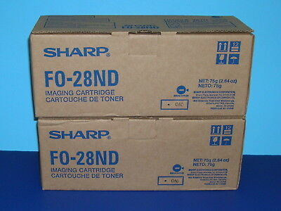 2 Sharp Imaging Cartridges FO-28ND ( Factory sealed, New in Boxes)