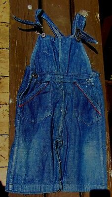 Rare Vintage Denim 1910S Child's Kids Overalls 10S American Antique Nice!!!