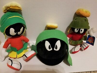 1997 Marvin The Martian Plush Six Flags Collectible Plush Looney Tunes Lot of 3